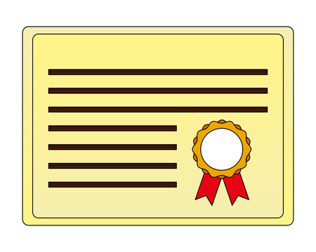 parchment diploma graduation icon vector illustration design