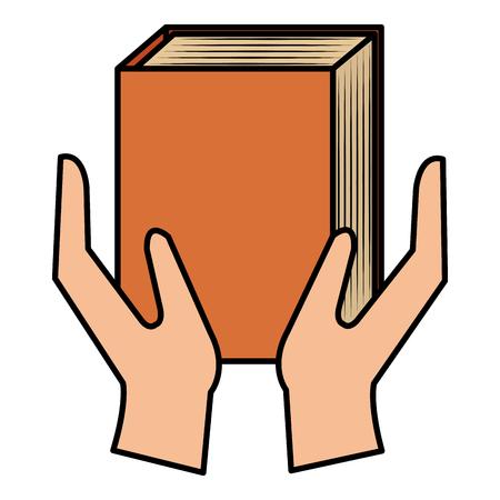 hands with text book vector illustration design Ilustração