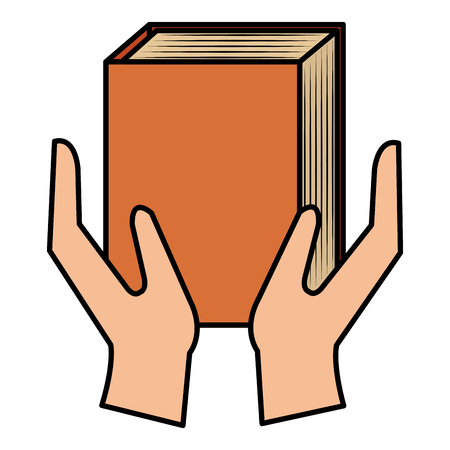 hands with text book vector illustration design Illusztráció