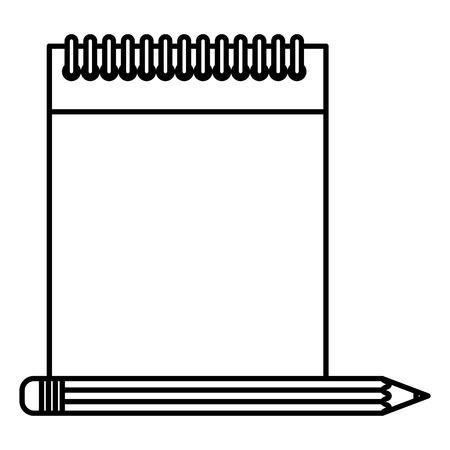 notebook school with pencil vector illustration design Ilustração