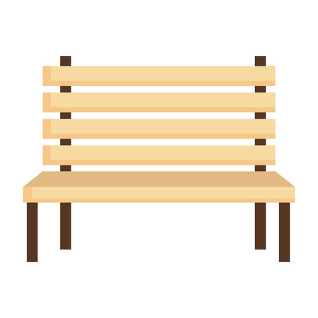 park wooden chair icon vector illustration design Foto de archivo - 105541047