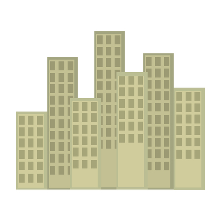 cityscape buildings scene icons vector illustration design Archivio Fotografico - 105541054