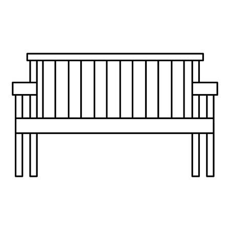 park wooden chair icon vector illustration design Foto de archivo - 105543359