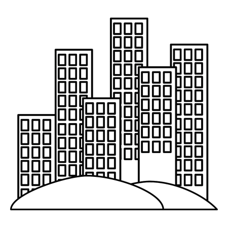 cityscape buildings scene icons vector illustration design Archivio Fotografico - 105543360