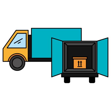 delivery service trucks icon vector illustration design Stock Photo