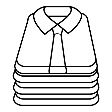 folded shirts isolated icon vector illustration design Foto de archivo - 105554437