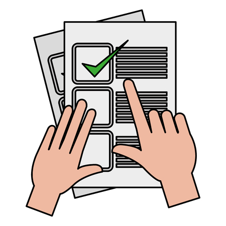 hand with checklist document vector illustration design Stock Photo