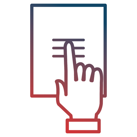 hand indexing in documents paper vector illustration design