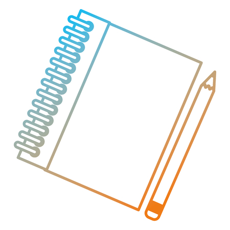 notebook school with pencil vector illustration design 向量圖像