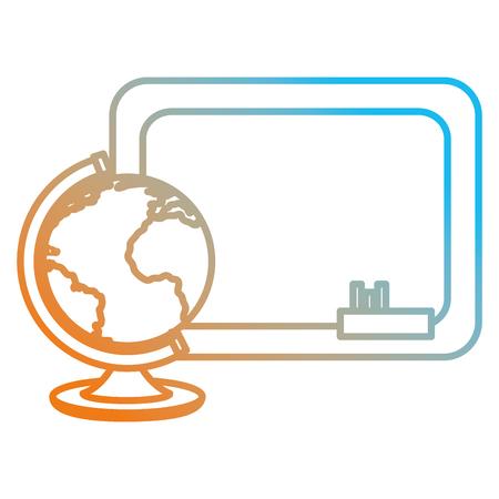 world planet with chalkboard vector illustration design Векторная Иллюстрация