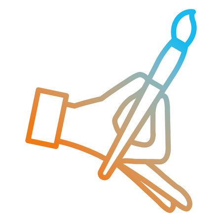 hand painting with brush vector illustration design