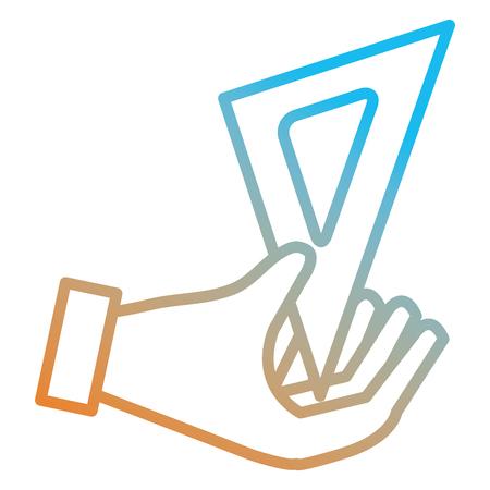 hand using school rule vector illustration design