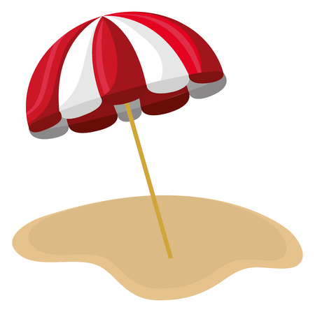 umbrella beach scene icon vector illustration design