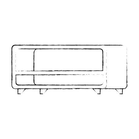 tv table wooden icon vector illustration design Illustration