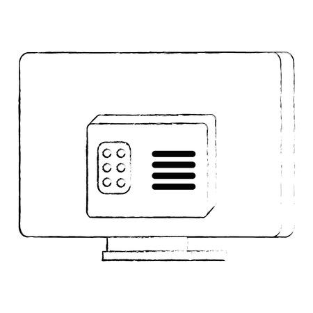 modern tv back isolated icon vector illustration design Illustration