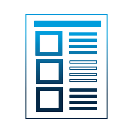document paper sheet file office vector illustration neon blue