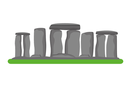 stonehenge monument of great britain icon vector illustration design  イラスト・ベクター素材