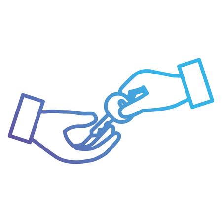 hand with secure key vector illustration design Illustration