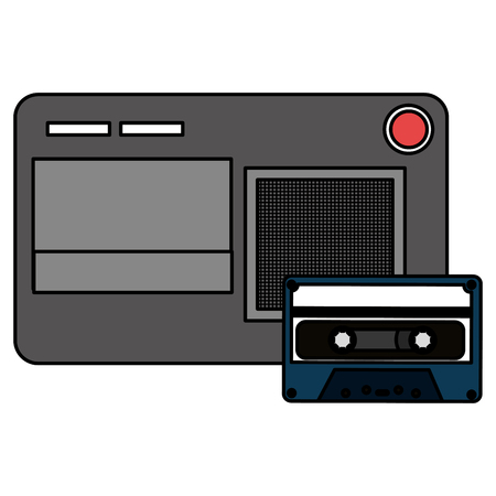 journalist recorder with cassette vector illustration design