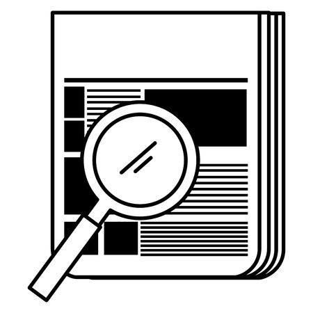 magnifying glass with documents vector illustration design Illustration