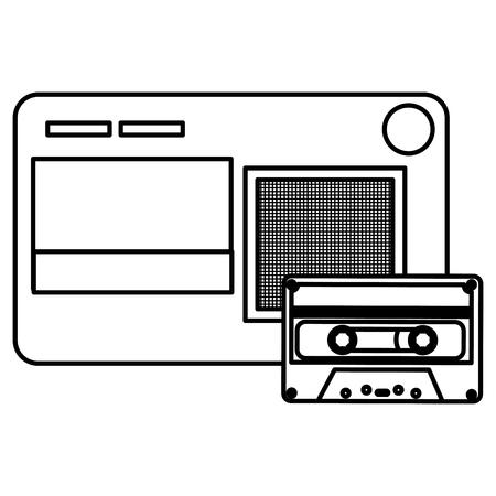 journalist recorder with cassette vector illustration design Stock Vector - 112382768