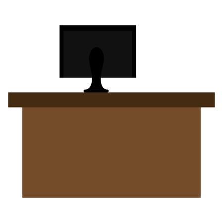 office desk with computer vector illustration design Illustration