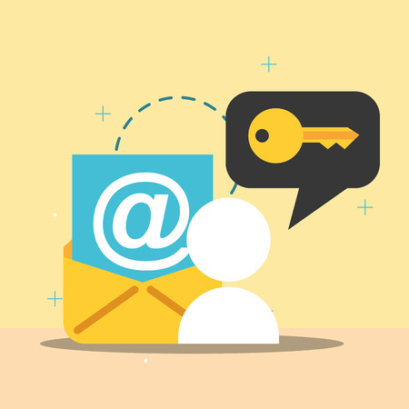 email people security key data vector illustration 스톡 콘텐츠