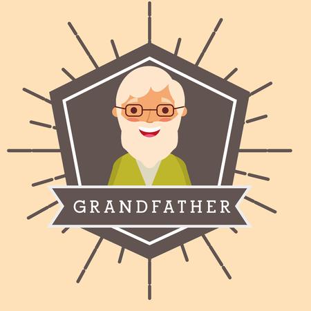 grandfather older man portrait character vector illustration Stock Illustration - 105555408
