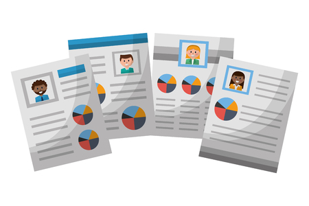human resources document personal information vector illustration Stockfoto