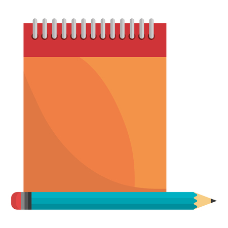notebook school with pencil vector illustration design Illusztráció