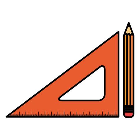 school rule with pencil vector illustration design