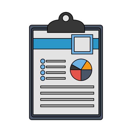 office clipboard document report diagram vector illustration