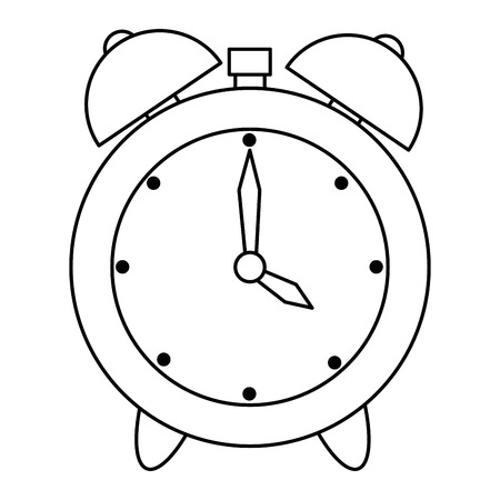 alarm time clock isolated icon vector illustration design 向量圖像