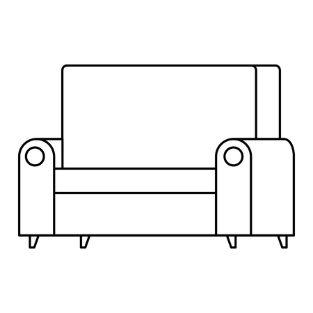 confortable sofa isolated icon vector illustration design