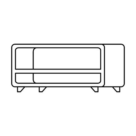 tv table wooden icon vector illustration design Ilustração