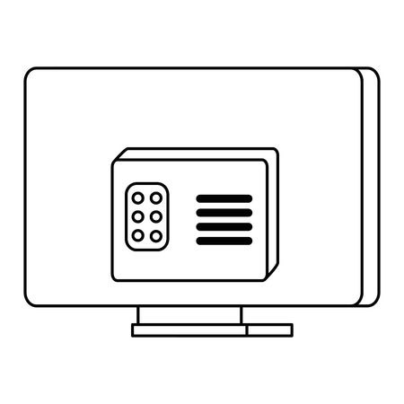 modern tv back isolated icon vector illustration design Illustration