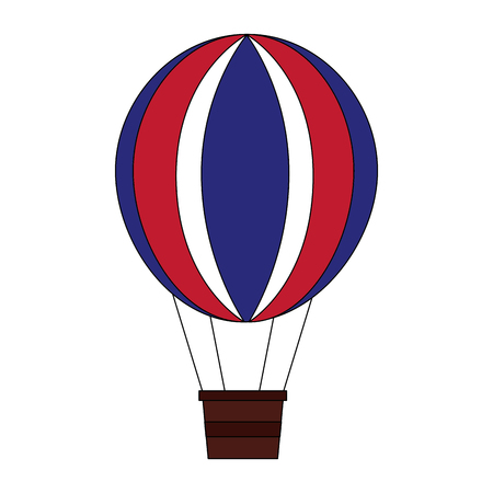 balloon air hot flying vector illustration design Banque d'images - 105554367
