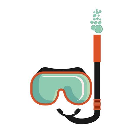 Maschera da snorkeling isolato icona illustrazione vettoriale design