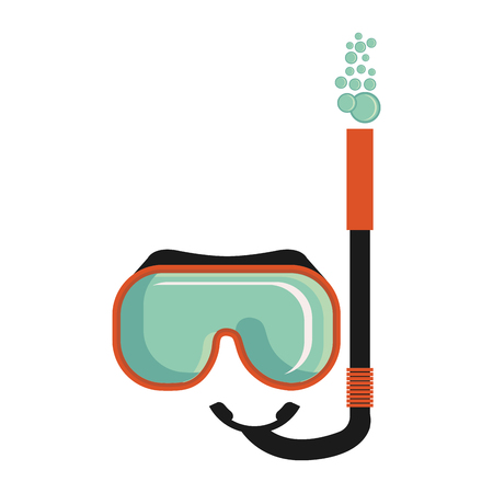 snorkel mask isolated icon vector illustration design  イラスト・ベクター素材