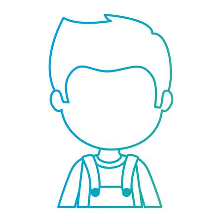 cute and little boy character vector illustration design Stock Illustratie