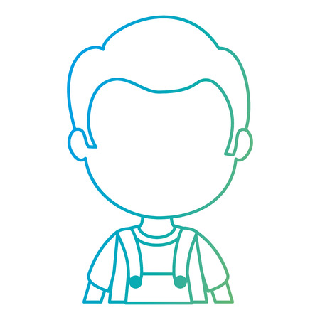 cute and little boy character vector illustration design Standard-Bild - 112383087