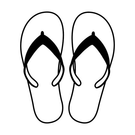 flip flops beach acessory vector illustration design