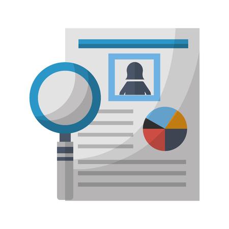 human resources document personal information vector illustration Illustration