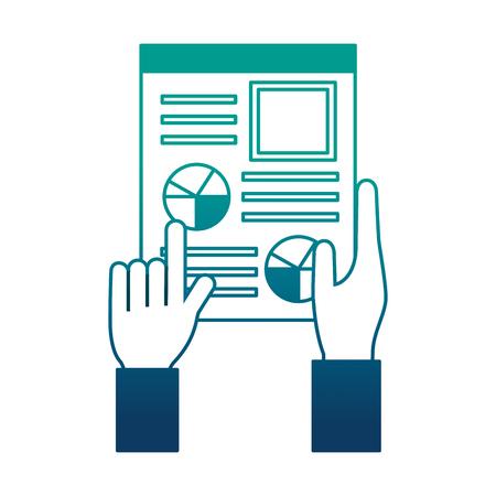 hand holds cv human resources management vector illustration neon image
