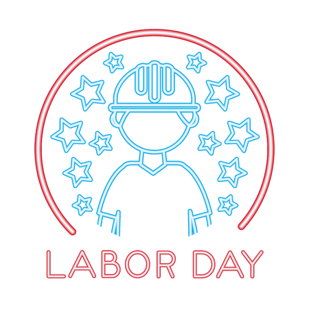 construction builder with labor day vector illustration design Illustration