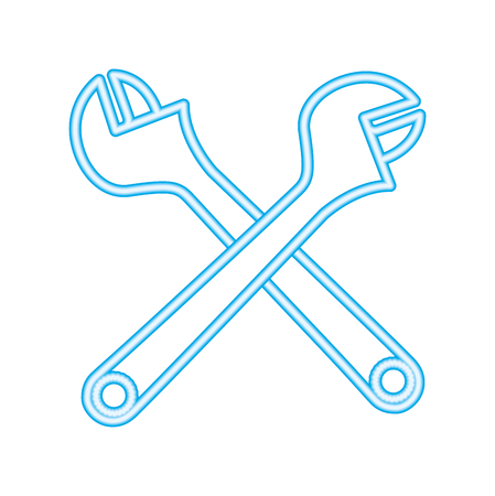 wrenchs keys crossed icon vector illustration design