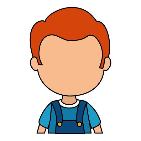 cute and little boy character vector illustration design Stockfoto