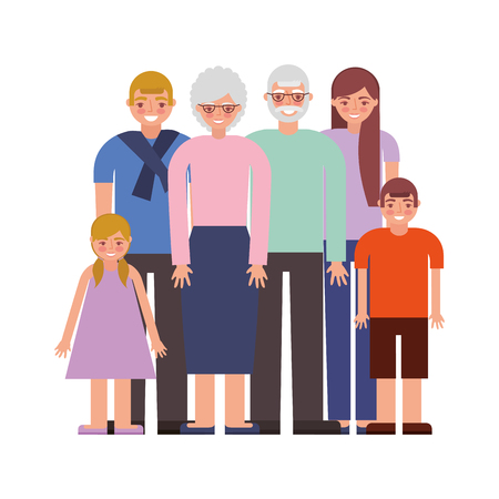 group of family members characters vector illustration design Ilustrace