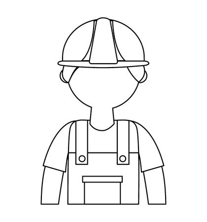 man builder isolated icon vector illustration design