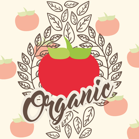 tomatoes vegetable dieting organic vintage card vector illustration